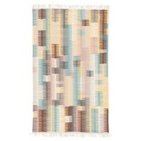 Jaipur Carver 2' x 3' Indoor/Outdoor Accent Rug in Turquoise/Yellow