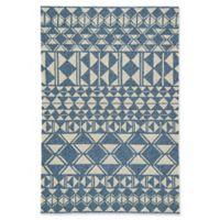 Jaipur Catalina Botella 7'6 x 9'6 Indoor/Outdoor Area Rug in Blue/Cream