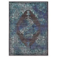 Momeni Cypress Floral Geometric 4' x 6' Area Rug in Charcoal