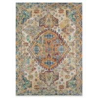 Momeni Cypress Floral Geometric 4' x 6' Area Rug in Ivory
