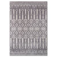 Momeni Lima Geometric 2' x 3' Accent Rug in Grey