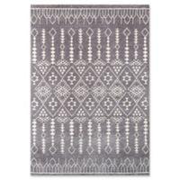 Momeni Lima Geometric 5'3 x 7'6 Area Rug in Grey