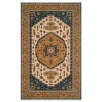 Momeni Persian Garden 3' x 5' Area Rug in Teal Blue