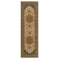 Momeni Persian Garden 2'6 x 8' Runner in Teal Blue