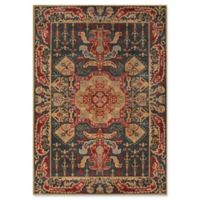 Momeni Ghazni Medallion 2' x 3' Accent Rug in Navy