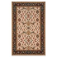 Momeni Persian Garden Floral Vines 2' x 3' Accent Rug in Charcoal