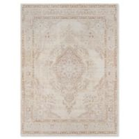 Momeni Isabella Botanical Medallion 2' x 3' Accent Rug in Ivory