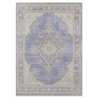 Momeni Isabella Botanical Medallion 2' x 3' Accent Rug in Periwinkle