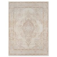 Momeni Isabella Botanical Medallion 4' x 6' Area Rug in Ivory