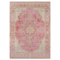 Momeni Isabella Botanical Medallion 4' x 6' Area Rug in Pink