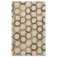 Momeni Elements Circles 3' x 5' Area Rug in Ivory