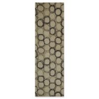 Momeni Elements Circles 2'6 x 8' Runner in Ivory