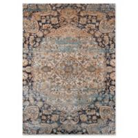 Momeni Amelia Floral 2' x 3' Accent Rug in Navy