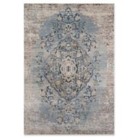 Momeni Amelia Damask 2' x 3' Accent Rug in Light Blue