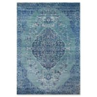 Momeni Amelia Damask 2' x 3' Accent Rug in Denim