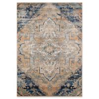 Momeni Amelia Damask 2' x 3' Accent Rug in Navy