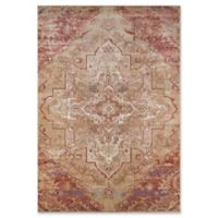 Momeni Amelia Damask 2' x 3' Accent Rug in Rose