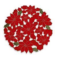 Sam Hedaya Poinsettia Cluster Placemat