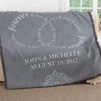 Forever & Ever Wedding Woven Throw