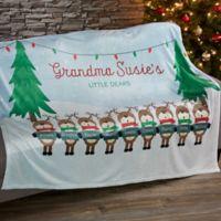 Reindeer Family Character Fleece Blanket
