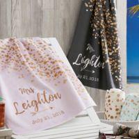 Sparkling Love Beach Towel
