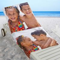 2-Photo Collage Beach Towel