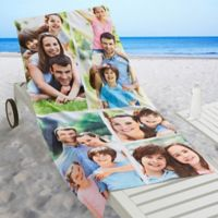 5-Photo Collage Beach Towel