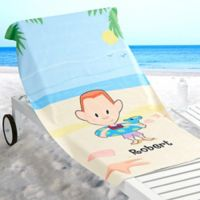 Summer Family Characters Beach Towel