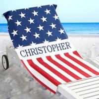Red, White & Blue Beach Towel