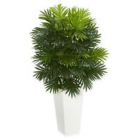 Nearly Natural 40-Inch Areca Palm Artificial Plant in White Base