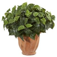 Nearly Natural 17-Inch Pothos Artificial Plant in Terracotta Planter