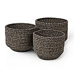 Blomus Round Cotton Baskets in Jute (Set of 3)