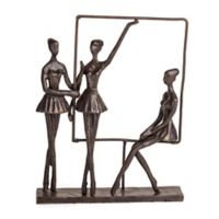 Danya B.™ Ballerinas on Frame Bronze Sculpture