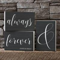 Always & Forever Shelf Blocks (Set of 3)
