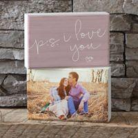 P.S. I Love You Shelf Blocks (Set of 2)
