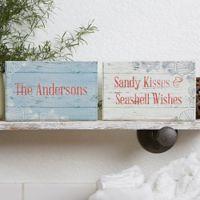 Coastal Home Rectangle Shelf Blocks (Set of 2)