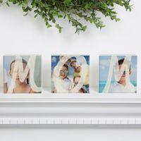 Mom Photo Shelf Blocks (Set of 3)