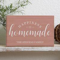 Happiness is Homemade Rectangle Shelf Block