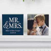 Mr.& Mrs. Photo Shelf Blocks (Set of 2)