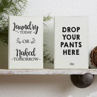Laundry Room Shelf Blocks