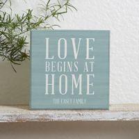 Love Begins at Home Shelf Block