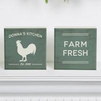 Farmhouse Kitchen Shelf Blocks (Set of 2)