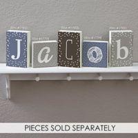 Single Letter Décor Rectangle Shelf Blocks