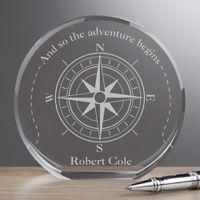 Compass Inspired Premium Crystal Award