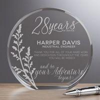 Retirement Round Crystal Award