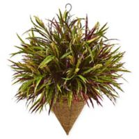 Nearly Natural Autumn Grass Artifical Plant with Hanging Cone Basket