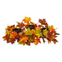 Nearly Natural 22-Inch Maple Leaf Artificial Arrangement Candelabrum