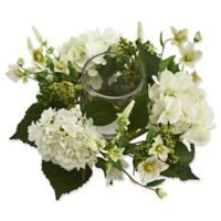 Nearly Natural 16-Inch Hydrangea Artificial Arrangement in White