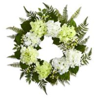 Nearly Natural 24-Inch Hydrangea and Berry Colorful Wreath