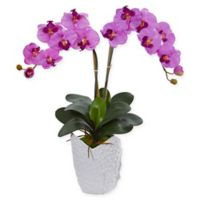 Nearly Natural 24-Inch Artificial Orchid Arrangement in Light Pink